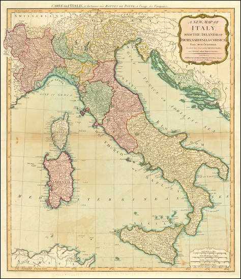 38-Italy Map By Laurie & Whittle