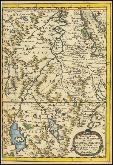 0-North Africa and East Africa Map By Nicolas Sanson