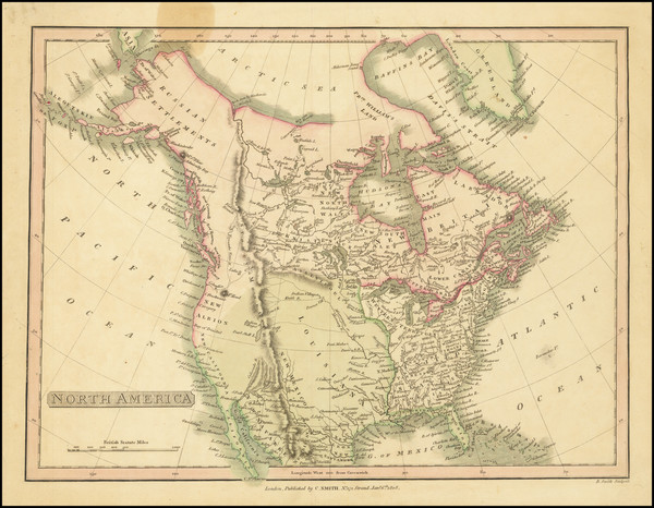 65-North America Map By Charles Smith