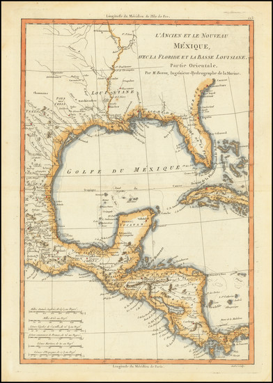 15-Florida, Texas, Southwest and Mexico Map By Rigobert Bonne