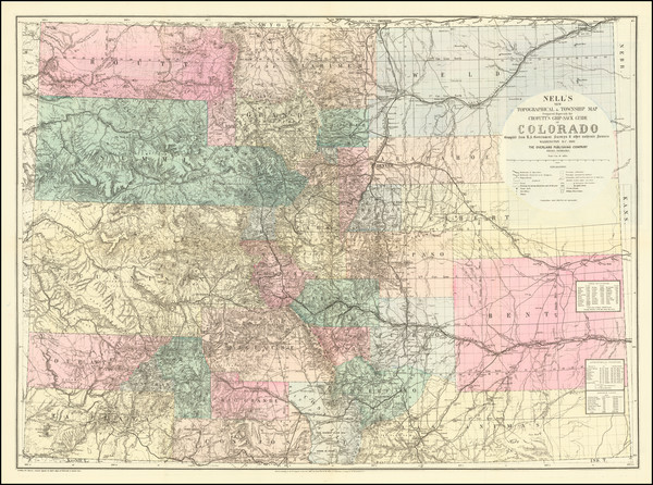 16-Colorado, Colorado and Rare Books Map By Louis Nell