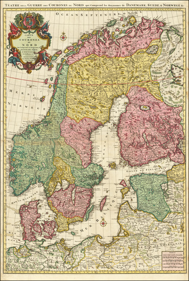 86-Scandinavia, Sweden and Norway Map By Pierre Mortier