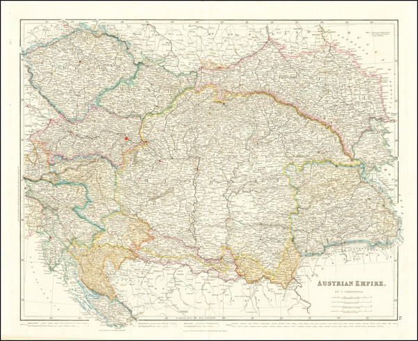 12-Germany and Austria Map By John Arrowsmith