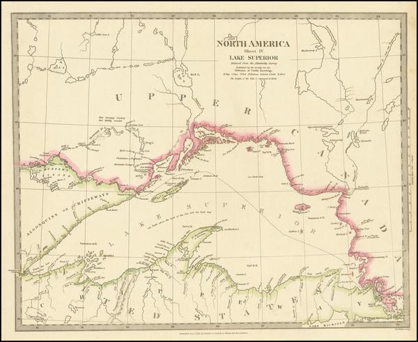 90-Michigan, Minnesota, Wisconsin and Canada Map By SDUK