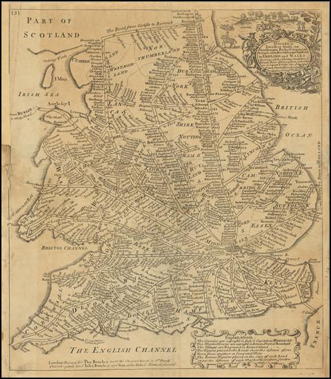56-England Map By Thomas Bowles  &  John Bowles