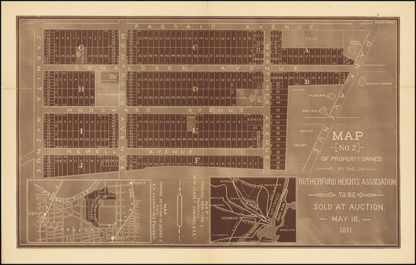 96-New Jersey Map By A. D. Mellick Jr.