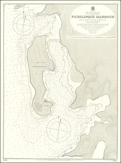 20-Baja California Map By British Admiralty