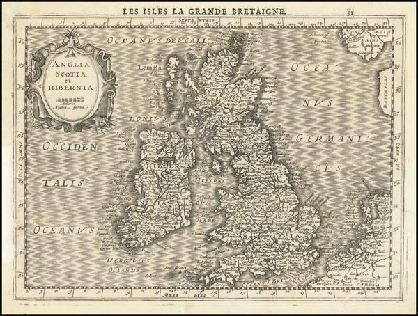 24-British Isles Map By  Gerard Mercator / Jan Everts Cloppenburgh
