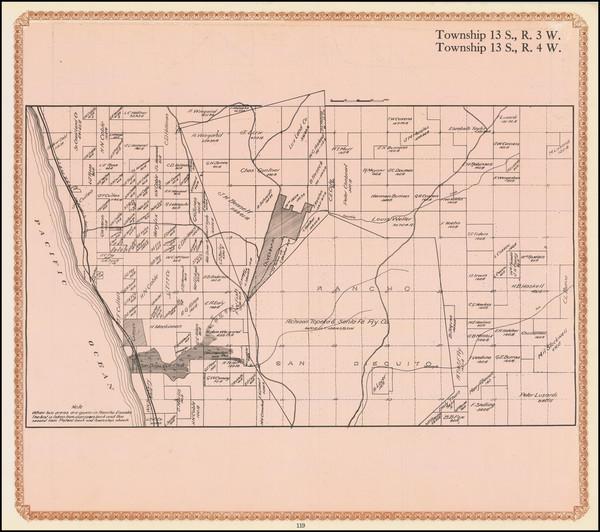 15-San Diego Map By William E. Alexander