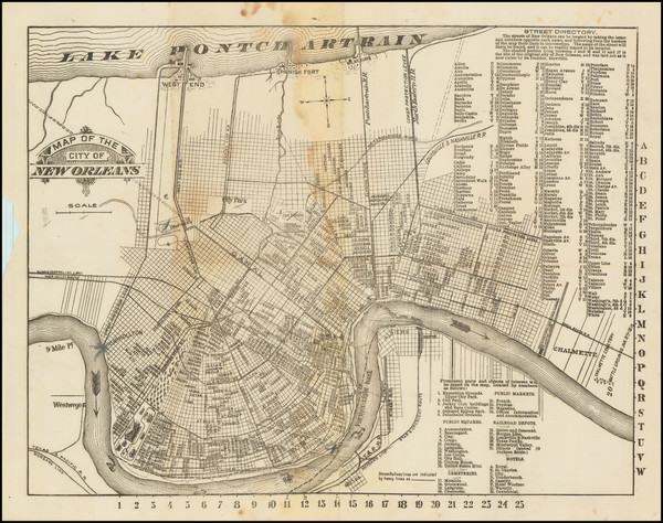 94-New Orleans Map By James  S. Zacharie