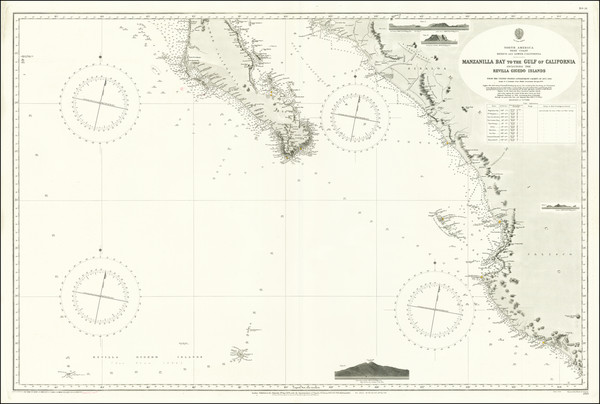 99-Mexico and Baja California Map By British Admiralty
