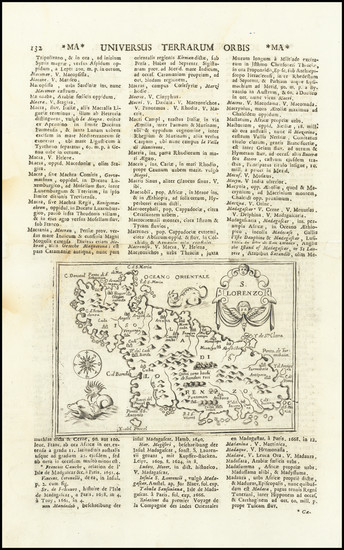 54-African Islands, including Madagascar Map By Alphonsus Lasor a Varea