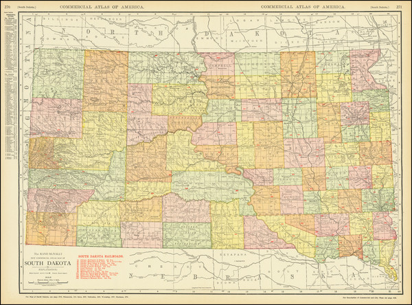 35-South Dakota Map By Rand McNally & Company