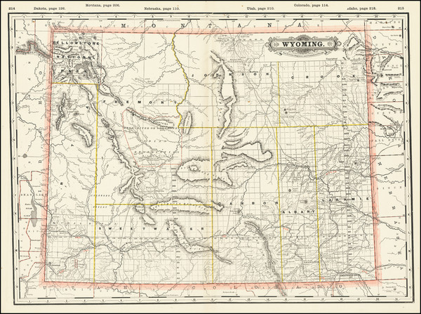 44-Wyoming Map By George F. Cram