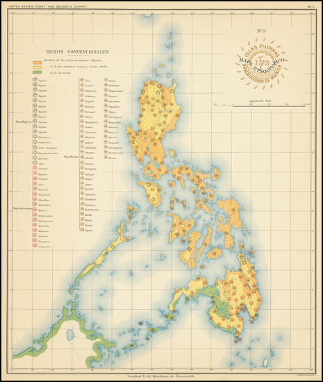 72-Philippines Map By Hoen & Co.