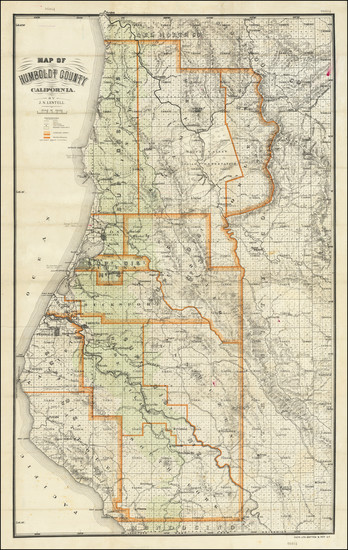 50-California Map By J.N. Lentell