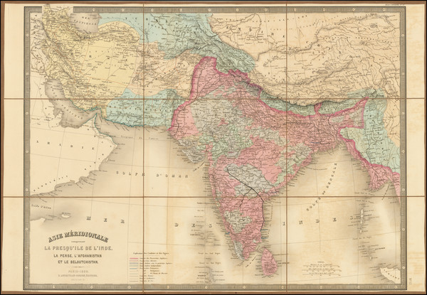 24-India and Persia Map By Eugène Andriveau-Goujon