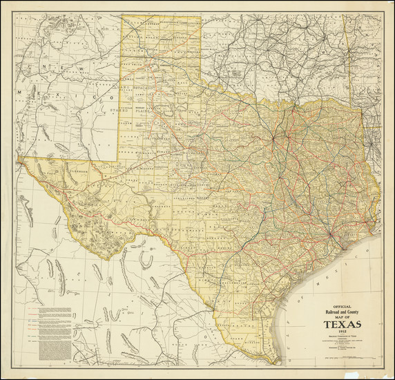 83-Texas Map By Railroad Commission of Texas