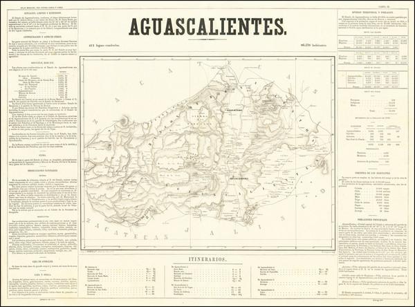 14-Mexico Map By Antonio Garcia y Cubas
