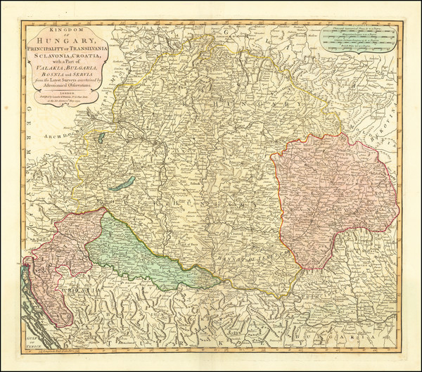 65-Hungary and Balkans Map By Laurie & Whittle
