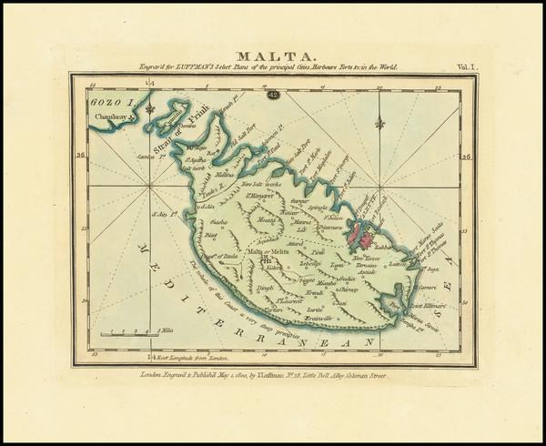 73-Malta Map By John Luffman