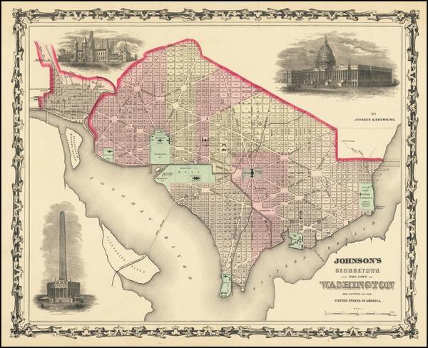 7-Washington, D.C. Map By Alvin Jewett Johnson  &  Ross C. Browning