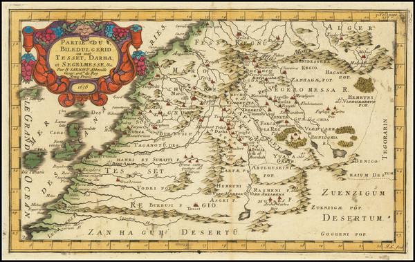 82-North Africa Map By Nicolas Sanson