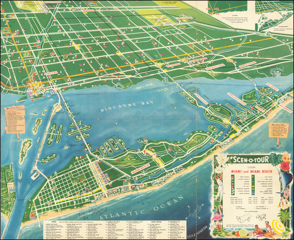 30-Florida and Pictorial Maps Map By Scenotour Publishing Co.