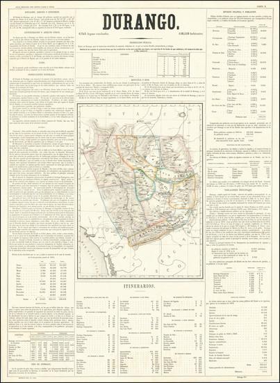 72-Mexico Map By Antonio Garcia y Cubas