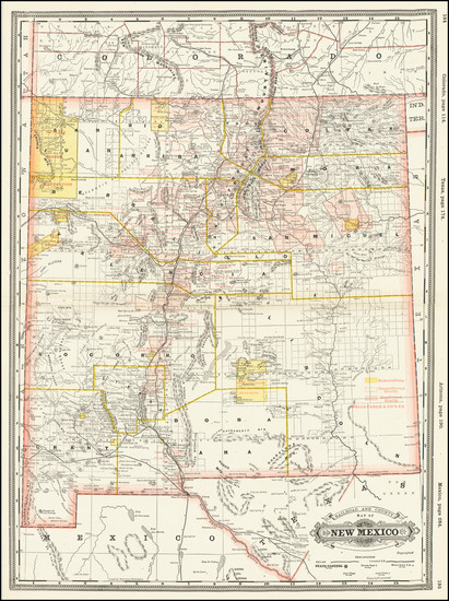 71-New Mexico Map By George F. Cram