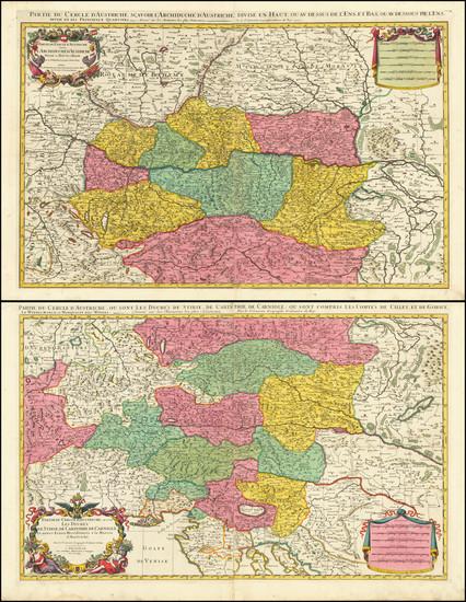 23-Austria Map By Pierre Mortier