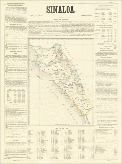 32-Mexico Map By Antonio Garcia y Cubas