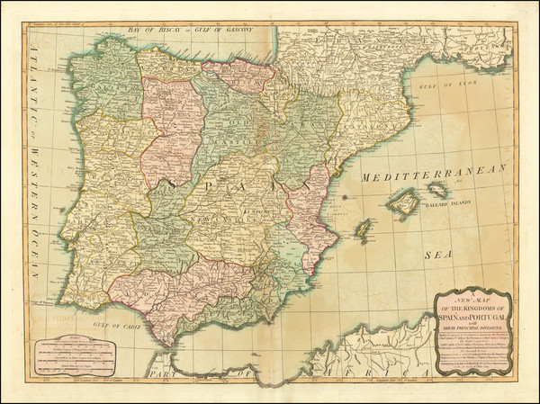 80-Spain and Portugal Map By Laurie & Whittle