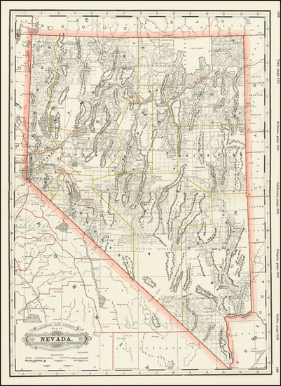 65-Nevada Map By George F. Cram
