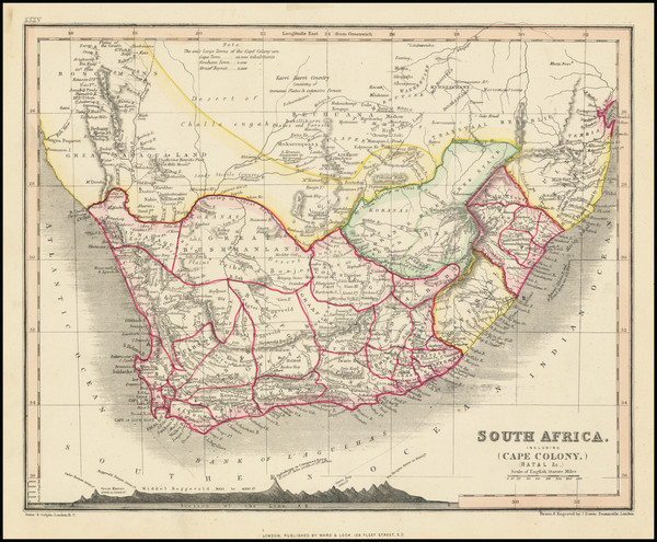 23-South Africa Map By John Dower