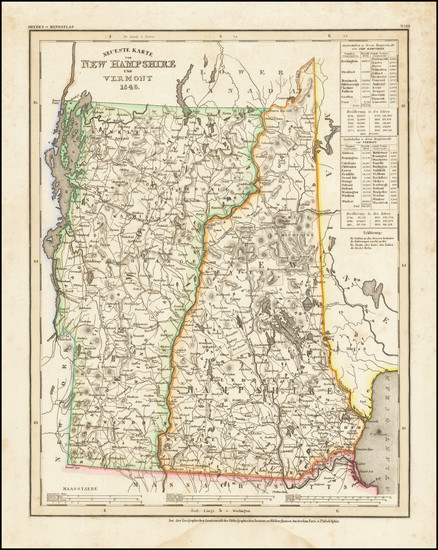 44-New Hampshire and Vermont Map By Joseph Meyer