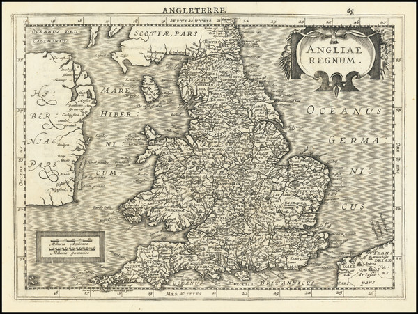 53-England Map By  Gerard Mercator / Jan Everts Cloppenburgh