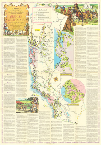 98-Pictorial Maps and California Map By Lowell Butler