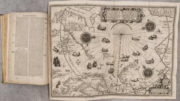 49-Polar Maps, Atlases and Rare Books Map By Jan Huygen van  Linschoten
