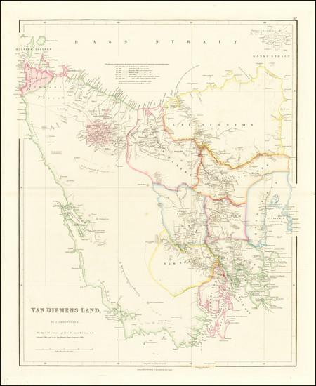 65-Australia Map By John Arrowsmith
