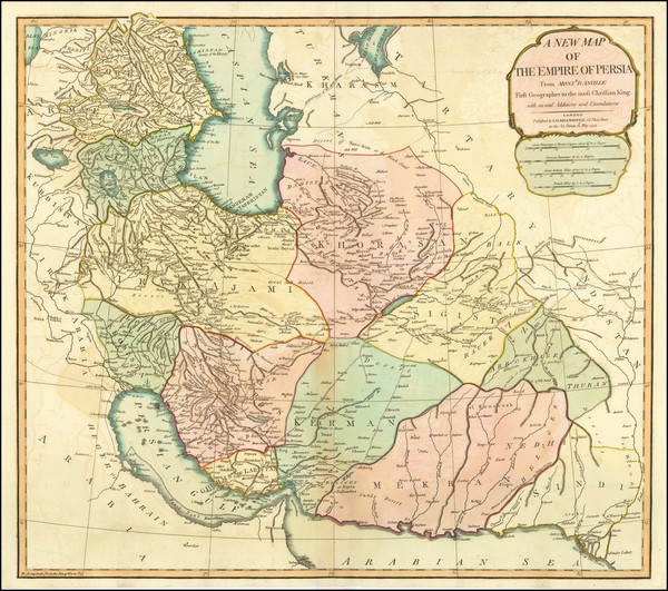 15-Central Asia & Caucasus and Persia Map By Laurie & Whittle