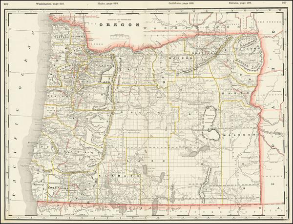 71-Oregon Map By George F. Cram