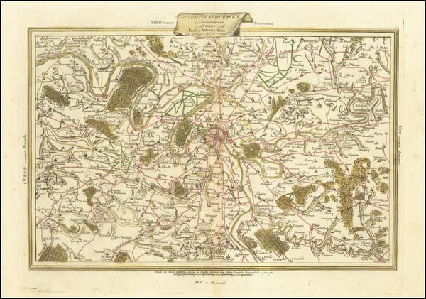 28-France and Paris Map By Antonio Zatta