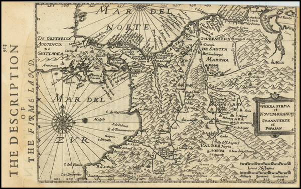 82-Colombia Map By Henricus Hondius -  Gerard Mercator