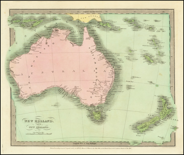 63-Australia and New Zealand Map By David Hugh Burr