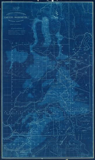 81-Idaho and Washington Map By O Wetten