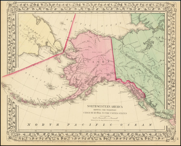 48-Alaska Map By Samuel Augustus Mitchell Jr.