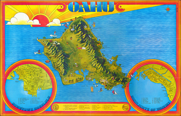 81-Hawaii, Hawaii and Pictorial Maps Map By Freya Tanz