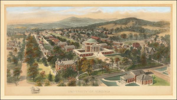 88-Virginia Map By Richard Rummell / Littig & Company