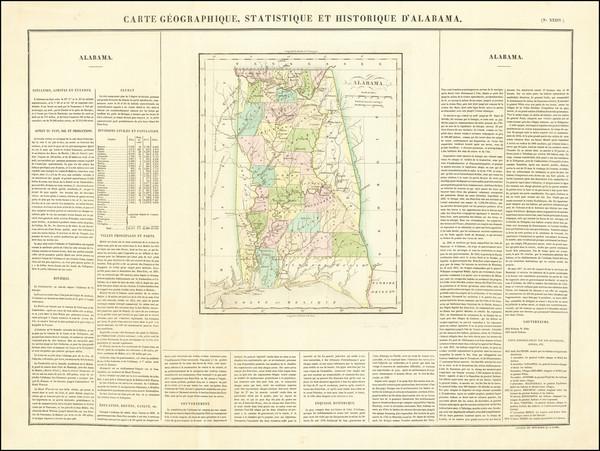 44-Alabama Map By Jean Alexandre Buchon